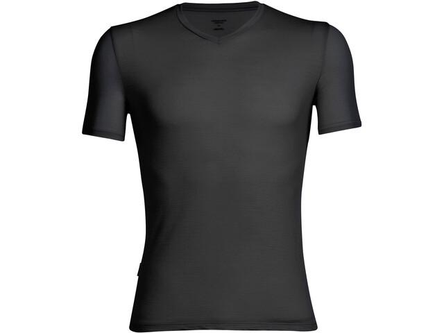 Icebreaker Anatomica SS V-Neck Shirt Herre black/monsoon
